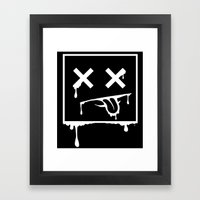 Dead Pixel Negative Framed Art Print