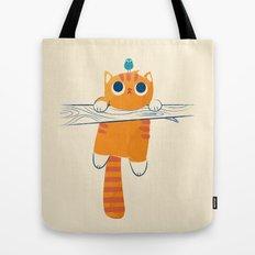 Fat cat, little bird Tote Bag