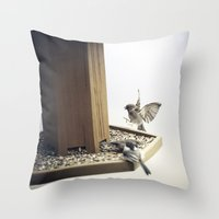 Tom Feiler Sparrows Throw Pillow