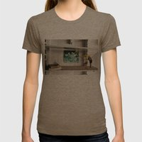 Face the Future Womens Fitted Tee Tri-Coffee SMALL