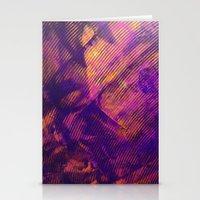 Purple and Orange Stripes Stationery Cards