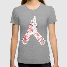 Bond.. James Bond Womens Fitted Tee Tri-Grey SMALL