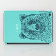 I Like You (Bear) iPad Case