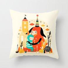 Woombi & Loondy Throw Pillow