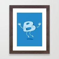 B Happy! Framed Art Print