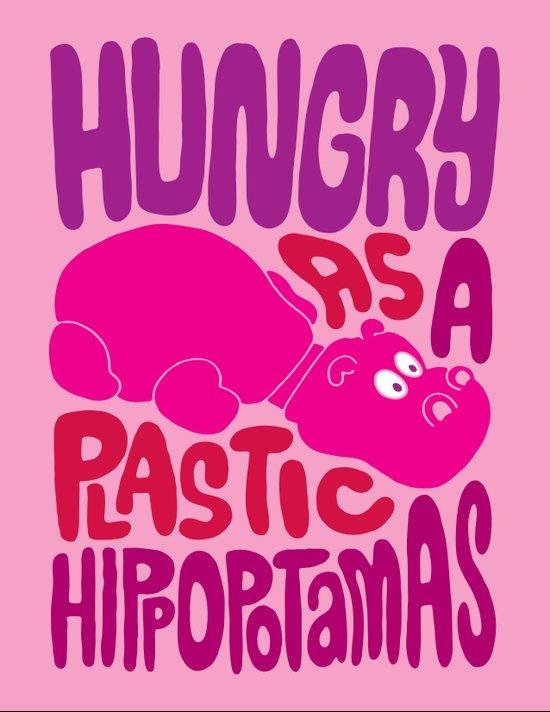 Hungry as Plastic Hippopotamus  Canvas Print