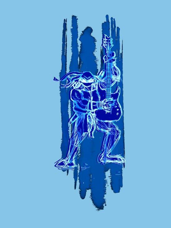 TMNT Rock: Leo Canvas Print