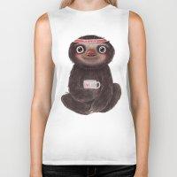 Sloth I♥lazy Biker Tank