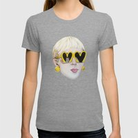Moschino Womens Fitted Tee Tri-Grey SMALL