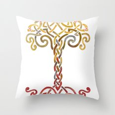 Woven Tree of Life Throw Pillow