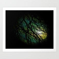 once upon a night Art Print