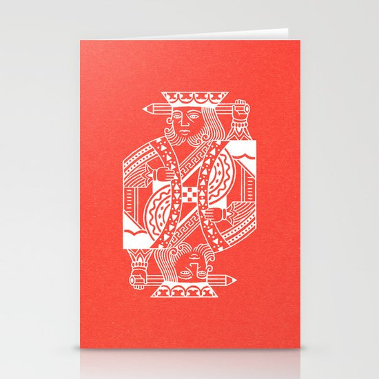 Creativity Is King Stationery Card