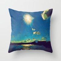 Sunshine At The Black Se… Throw Pillow