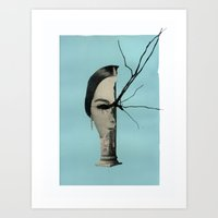 Medusa (Theme I, Blue) Art Print