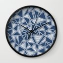 Abstract Outline Lines Navy  Wall Clock