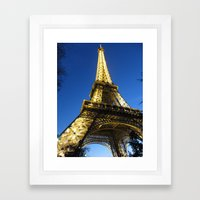 eiffel - night Framed Art Print