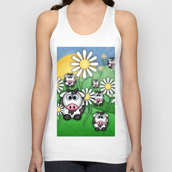 Cows & Daisies  Unisex Tank Top