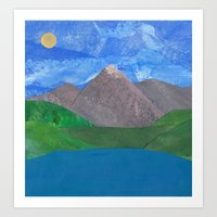 Swiss Mountain Art Print