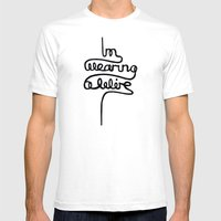 Wearing A Wire Mens Fitted Tee White SMALL