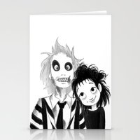 Beetle Juice fan art Stationery Cards