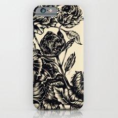 Peonies, black & white  Slim Case iPhone 6s