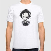 Plush Scissorhands  Mens Fitted Tee Ash Grey SMALL