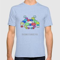 Invader Boss Mens Fitted Tee Tri-Blue SMALL