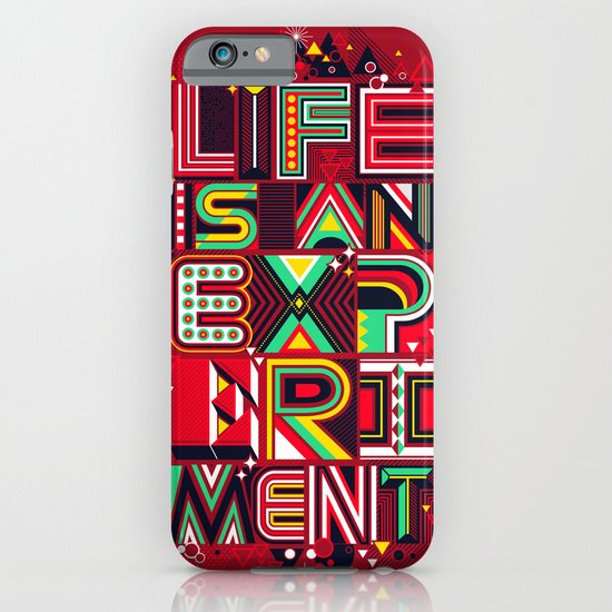 Life is an Experiment iPhone & iPod Case