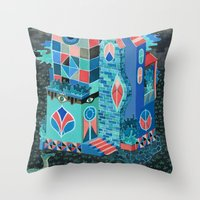 Snake House Throw Pillow