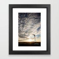 Sandhills Windmill @ Sun… Framed Art Print
