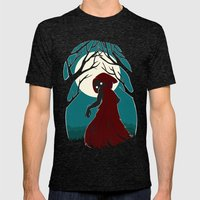 Red Riding Hood 2 Mens Fitted Tee Tri-Black SMALL