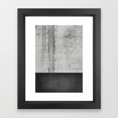 Raw Concrete And Black L… Framed Art Print