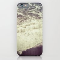 iPhone Cases featuring Black Beach by Hraun Photography