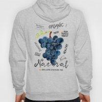 Watercolor grapes Hoody