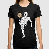 Droid Soccer Womens Fitted Tee Tri-Black SMALL