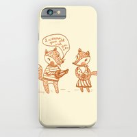 iPhone & iPod Case featuring Grow Old With You Foxes by Ello Lovey