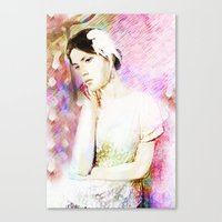 Absorption Portrait Canvas Print