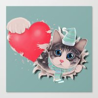 Steal Heart Canvas Print