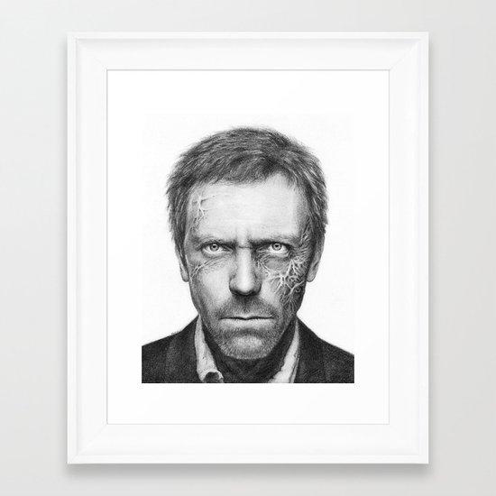 Hugh Laurie Framed Art Print