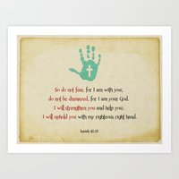 I Will Uphold You! Art Print