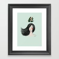 Miss Yagrumo II Framed Art Print