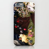 iPhone & iPod Case featuring Woodland Critters Christmas by Hanne De Brabander