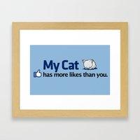 Catbook Framed Art Print