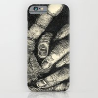 iPhone & iPod Case featuring Etched Hand #1 by Alexis Kadonsky