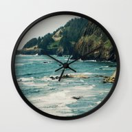 Oregon Coast III Wall Clock
