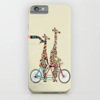 giraffe iPhone & iPod Cases featuring giraffe days lets tandem by bri.buckley