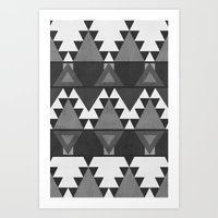 Aztec Grey Art Print