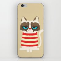Grumpy Meme Cat  iPhone & iPod Skin