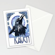 The Raven and The Moon Stationery Cards