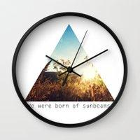 We Were Born of Sunbeams - Triangle Crop Wall Clock